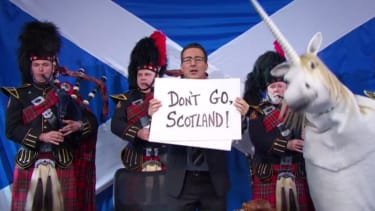 John Oliver channels British romantic comedies to plead for Scotland to stay