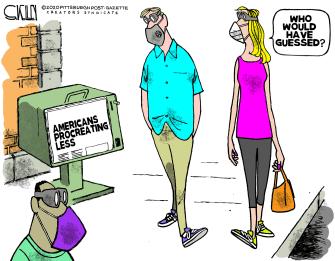 Editorial Cartoon U.S. coronavirus procreation
