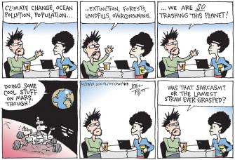 Editorial Cartoon U.S. earth problems mars nasa