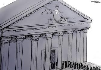 Political Cartoon U.S. Ginsburg SCOTUS clerks RIP