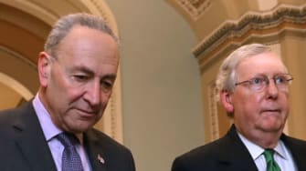 Chuck Schumer and Mitch McConnell.
