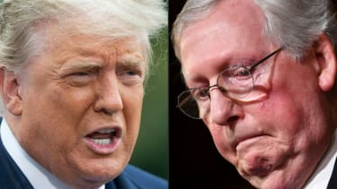 Donald Trump, Mitch McConnell.