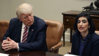 President Trump and Seema Verma.