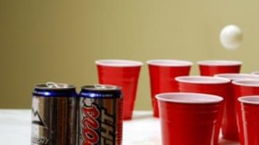 Beer pong blame game