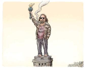 Political Cartoon U.S. new york legal marijuana