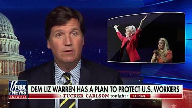 Tucker Carlson praises Elizabeth Warren