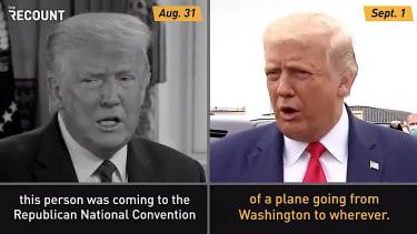Trump talks conspiracy theories