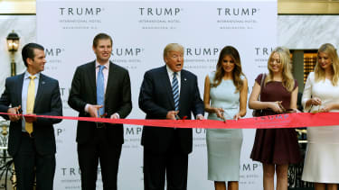 The Trump family marks the opening of the Trump International Hotel in Washington, D.C., in October 2016.