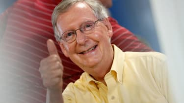 Republican Mitch McConnell coasts to re-election in Kentucky