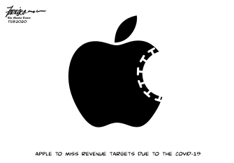 Editorial Cartoon U.S. Apple sales Coronavirus China