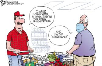 Editorial Cartoon U.S. coronavirus masks