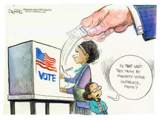 Political Cartoon U.S. gop Black voters