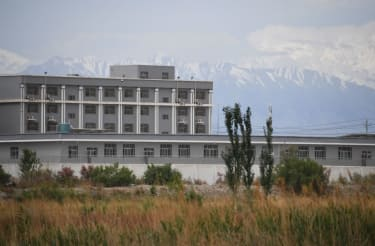 Possible re-education camp in Xinjiang.