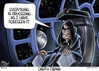 Political Cartoon U.S. Darth Obama Biden