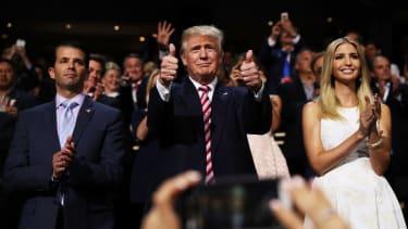 Donald Trump courts the women vote.