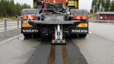 Volvo is developing electric roads