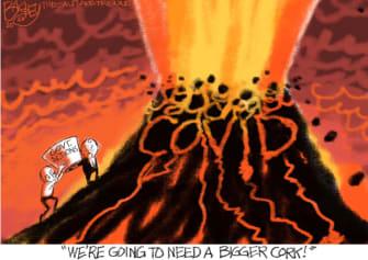 Editorial Cartoon U.S. COVID surge