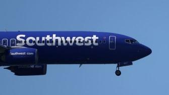 A Southwest Airlines plane.