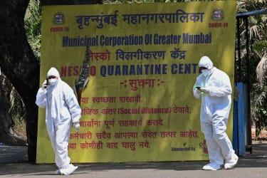 Public health officials in Mumbai
