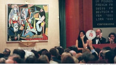 Picasso's painting at auction.
