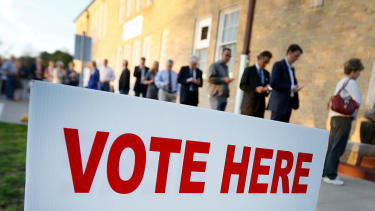 People vote in Texas.