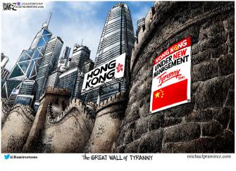 Editorial CartoonWorld Hong Kong China
