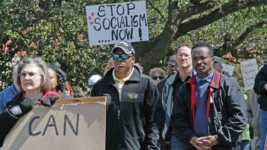 Tea Party protestors