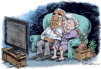 Editorial Cartoon U.S. racism
