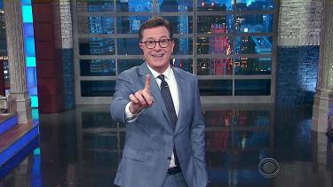 Stephen Colbert tackles Trump's travel ban