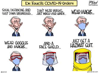 Editorial Cartoon U.S. Fauci coronavirus advice