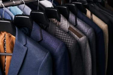 A rack of suits.