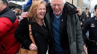 Bernie Sanders and his wife, Jane Sanders.