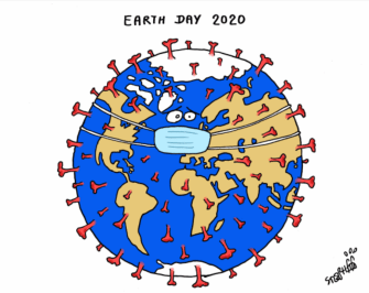 Editorial Cartoon World Earth Day 2020 coronavirus