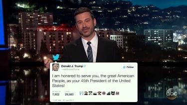 Jimmy Kimmel recaps President Trump's first weekend