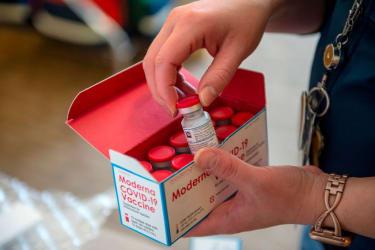 Moderna coronavirus vaccine.