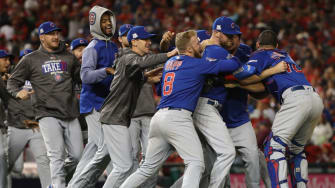 Cubs celebrate NLDS win over Nationals