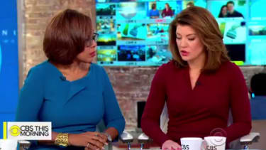 CBS reporters react to news about their co-host Charlie Rose.