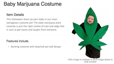 You can now dress your baby up like a marijuana leaf for Halloween