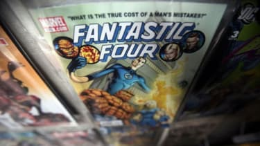 A Marvel Fantastic Four comic book is seen for sale at St. Mark's Comics, in New York City.
