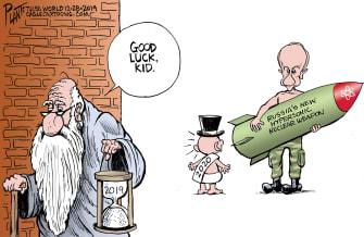 Political Cartoon World 2020 Putin missile