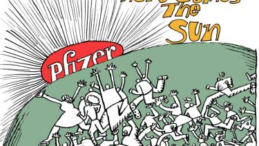 Editorial Cartoon U.S. COVID Pfizer vaccine