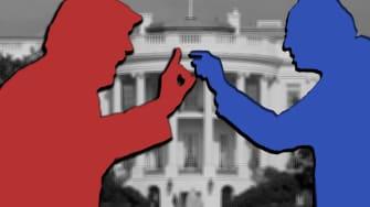 President Trump and Sen. Bernie Sanders.