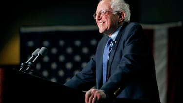 Bernie Sanders at a campaign event