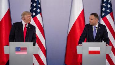 President Trump and Polish President Andrzej Duda