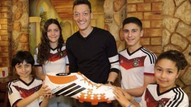 German soccer star donates World Cup winnings to needy Brazilian children