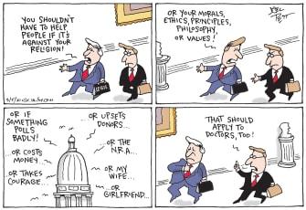 Editorial Cartoon U.S. legislator ethics