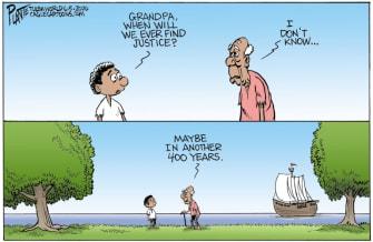 Editorial Cartoon U.S. racial justice slavery