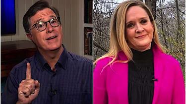 Stephen Colbert and Samantha Bee