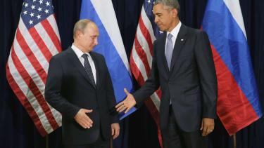 Vladimir Putin and Barack Obama meet in New York City