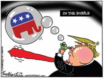 Political Cartoon U.S. Trump GOP RNC